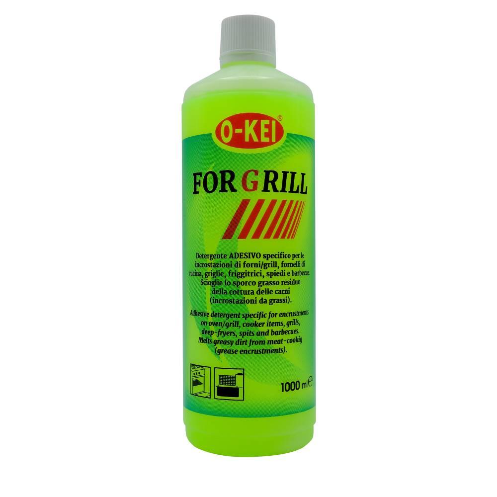 I.C.L.A. OKEI - FOR GRILL - Detergenti per stoviglie  1kg - Detergente adesivo specifico per le incrostazioni di forni