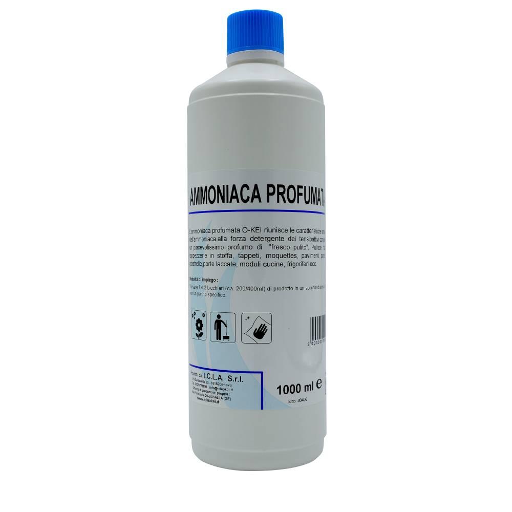 I.C.L.A. OKEI - AMMONIACA PROFUMATA - Detergenti manutentori  1kg - Riunisce le caratteristiche smacchianti dell'ammoniaca alla forza detergente dei tensioattivi