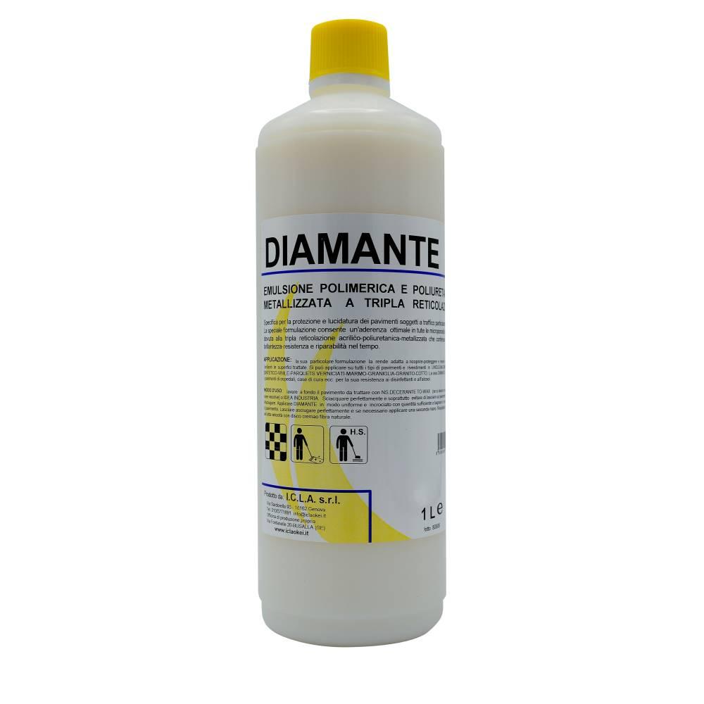 I.C.L.A. OKEI - CERA DIAMANTE - Cere per pavimenti  1kg - Emulsione polimerica e poliuretanica metallizzata a tripla reticolazione per pavimenti. Protegge e rendere estremamente brillanti pavimenti e rivestimenti in linoleum