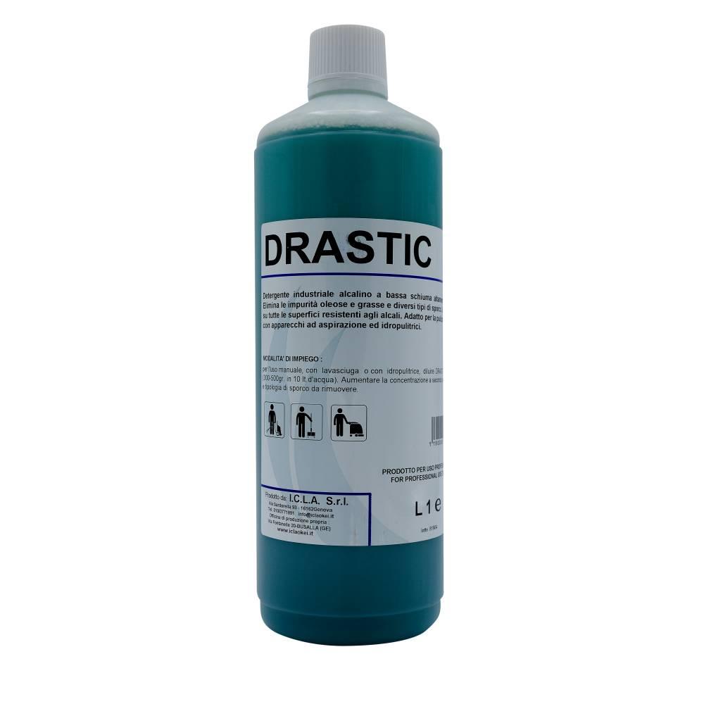 I.C.L.A. OKEI - DRASTIC - Pulizia di fondo  1kg - Detergente industriale alcalino a bassa schiuma altamente efficace. Elimina le impurità oleose e diversi tipi di sporco.