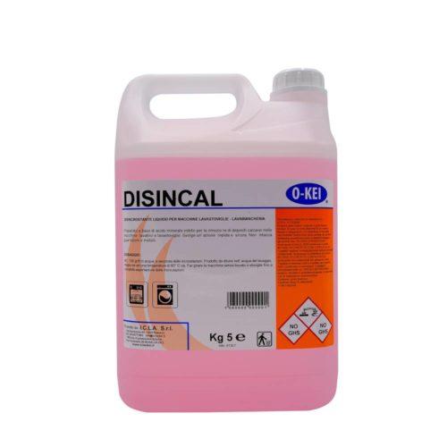 I.C.L.A. OKEI - DISINCAL - Detergenti disincrostanti  5kg - Preparato a base di acido minerale inibito per la rimozione di depositi calcarei nelle macchine lavatrici e lavastoviglie. Svolge un'azione rapida e sicura. Non intacca guarnizioni e metalli.