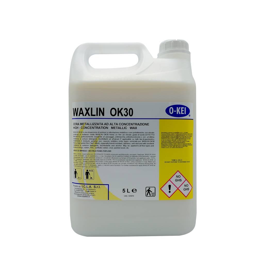 I.C.L.A. OKEI - WAXLIN OK30 - Cere per pavimenti  5kg - Dispersione di polimeri a reticolazione metallica e cere polietileniche