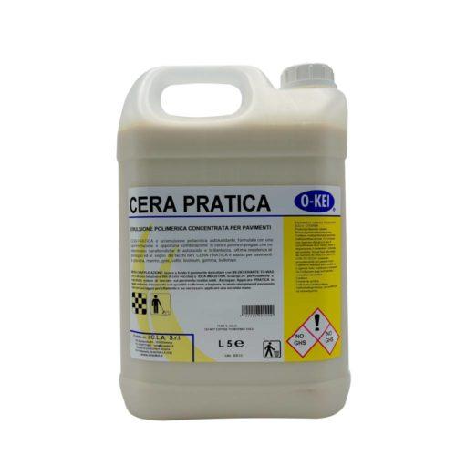 I.C.L.A. OKEI - CERA PRATICA - Cere per pavimenti  5kg - Cera protettiva poliacrilica autolucidante metallizzata per il trattamento delle superfici dure sulle quali forma un film