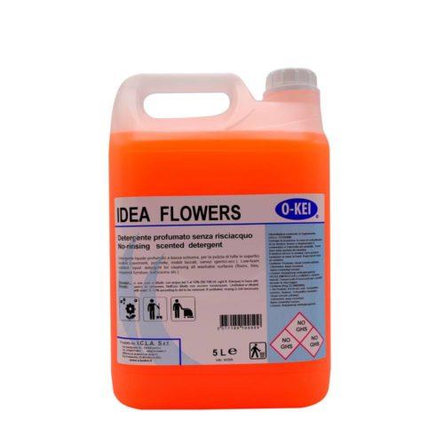 I.C.L.A. OKEI - IDEA FLOWER - Detergenti manutentori  5kg - Detergente liquido profumato a bassa schiuma