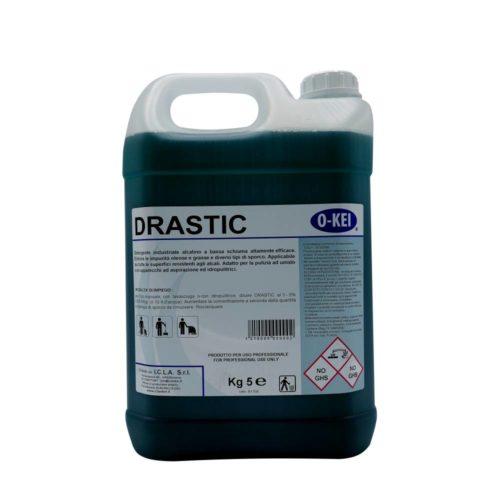 I.C.L.A. OKEI - DRASTIC - Pulizia di fondo  5kg - Detergente industriale alcalino a bassa schiuma altamente efficace. Elimina le impurità oleose e diversi tipi di sporco.