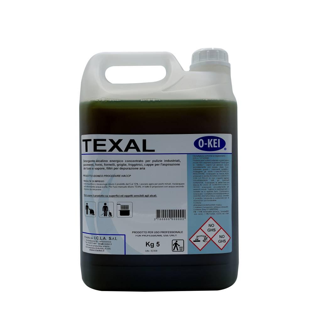 I.C.L.A. OKEI - TEXAL - Pulizia di fondo  5kg - Detergente alcalino energico concentrato per pulizie industriali