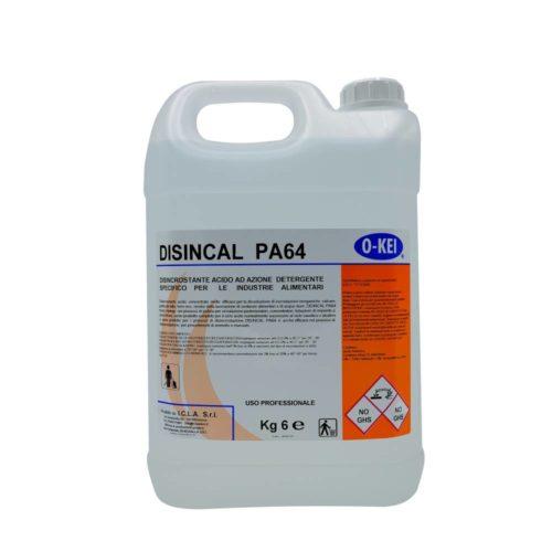 I.C.L.A. OKEI - DISINCAL PA 64 - Detergenti disincrostanti  6kg - Disincrosfante acido concentrato molto efficace per la dissoluzione di incrostazioni inorganiche: calcare