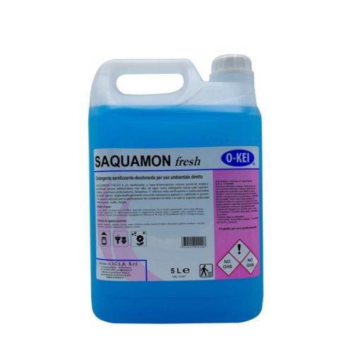 I.C.L.A. OKEI - SAQUAMON FRESH - Detergenti igienizzanti  5kg - Sanitizzante-deodorante a base di benzalconio cloruro