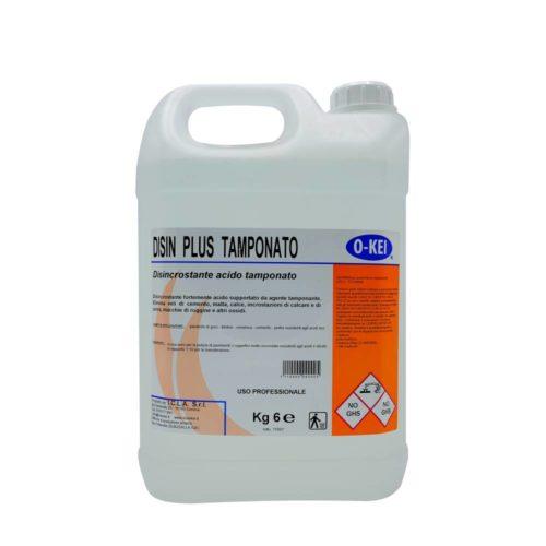 I.C.L.A. OKEI - DISIN PLUS TAMPONATO - Detergenti disincrostanti  6kg - Disincrostante fortemente acido supportato da agente tamponante. Elimina veli di cemento