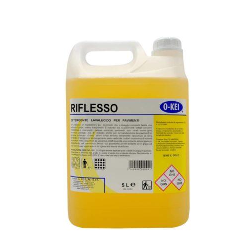 I.C.L.A. OKEI - RIFLESSO - Cere per pavimenti  5kg - Detergente manutentore lavalucido per pavimenti. Deterge