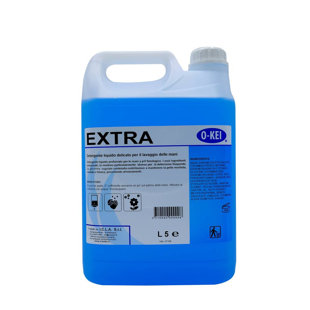 I.C.L.A. OKEI - EXTRA - Igiene personale  5kg - Detergente liquido profumato per le mani a PH fisiologico. I suoi ingredienti selezionati