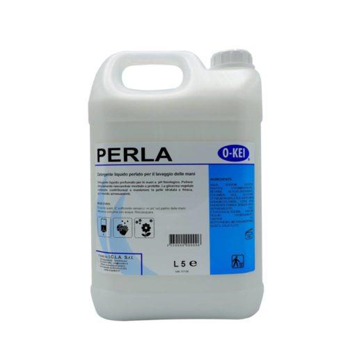 I.C.L.A. OKEI - PERLA - Igiene personale  5kg - Detergente liquido profumato per le mani a pH fisiologico. Deterge delicatamente lasciando le mani morbide e protette. La glicerina vegetale contenuta contribuisce a mantenere la pelle idratata e fresca
