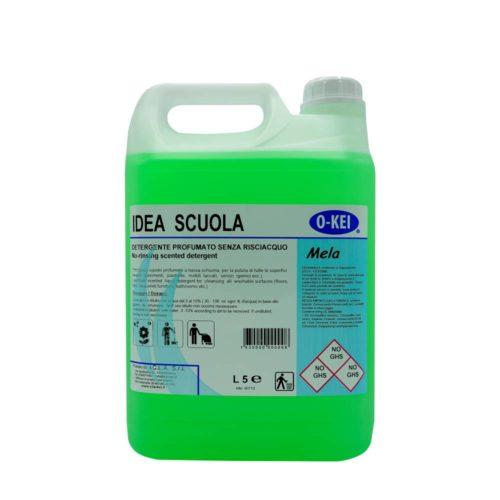 I.C.L.A. OKEI - IDEA SCUOLA MELA - Detergenti manutentori  5kg - Detergente liquido a bassa schiuma delicatamente profumato per la manutenzione ordinaria di tutte le superfici dure. Non intacca i pavimenti trattati con cere. Lascia nell'ambiente una gradevole nota fruttata.