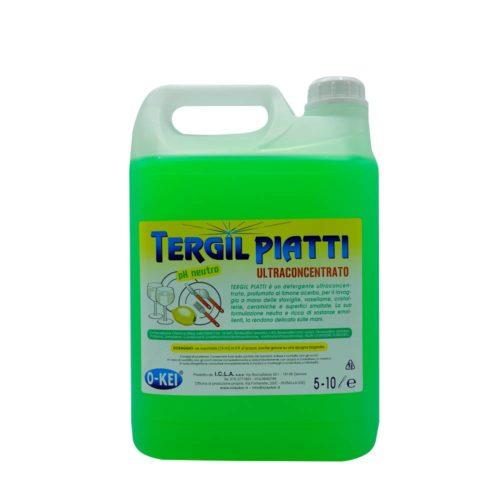 I.C.L.A. OKEI - TERGIL PIATTI - Detergenti per stoviglie  5kg - Detergente neutro ultraconcentrato per il lavaggio manuale delle stoviglie. Grazie alla sua formulazione ricca di sostanze attive ed emolienti