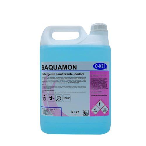 I.C.L.A. OKEI - SAQUAMON - Detergenti igienizzanti  5kg - Sanitizzante non profumato pronto all'uso