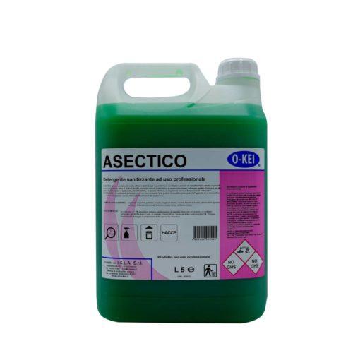I.C.L.A. OKEI - ASECTICO - Detergenti igienizzanti  5kg - Detergente sanitizzante inodore concentrato ad uso professionale indicato per ospedali