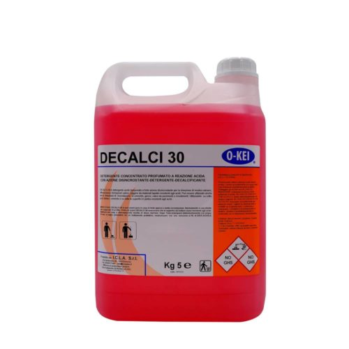 I.C.L.A. OKEI - DECALCI 30 - Detergenti disincrostanti  5kg - Detergente acido tamponato a forte azione disincrostante per la rimozione di residui calcarei