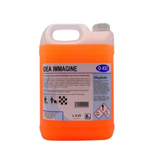 I.C.L.A. OKEI - IDEA IMMAGINE MUGHETTO - Detergenti manutentori  5kg - Detergente concentrato profumato per la pulizia rapida ed efficace dello sporco di tutte le superfici lavabili