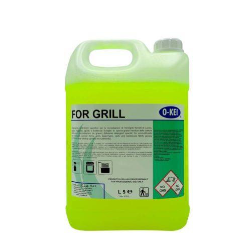 I.C.L.A. OKEI - FOR GRILL - Detergenti per stoviglie  5kg - Detergente adesivo specifico per le incrostazioni di forni