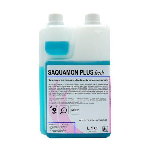 I.C.L.A. OKEI - SAQUAMON FRESH PLUS - Detergenti igienizzanti  1kg - Sanitizzante-deodorante superconcentrato a base di benzalconio cloruro