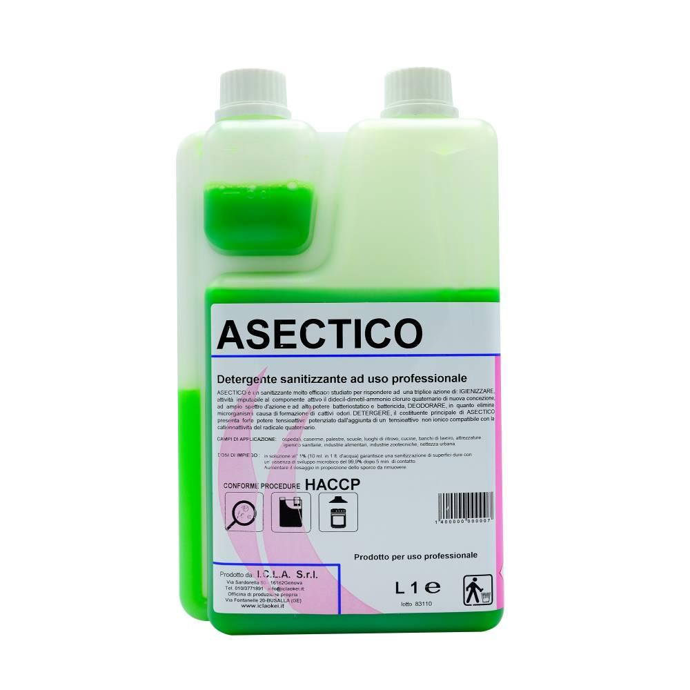 I.C.L.A. OKEI - ASECTICO - Detergenti igienizzanti  1kg - Detergente sanitizzante inodore concentrato ad uso professionale indicato per ospedali