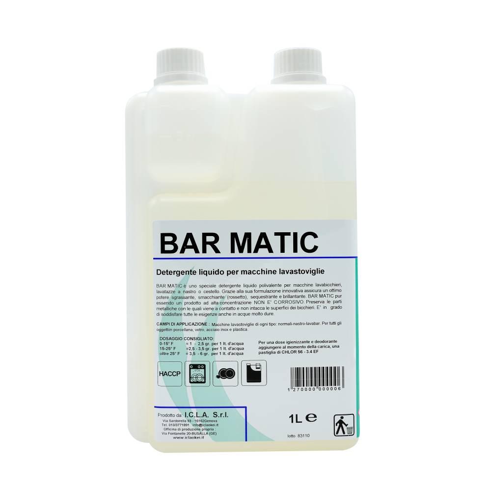 I.C.L.A. OKEI - BARMATIC - Detergenti per stoviglie  10kg - Detergente liquido speciale concentrato per macchine lavastoviglie. Utilizza una tecnologia che combina detergente e brillantante in un unico prodotto. Grazie alla sua formulazione innovativa assicura un ottimo potere sgrassante