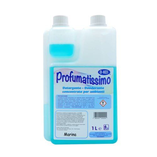 I.C.L.A. OKEI - PROFUMATISSIMO MARINA - Detergenti manutentori  1kg - Detergente deodorante a lunga persistenza per pulire e profumare tutte le superfici lavabili