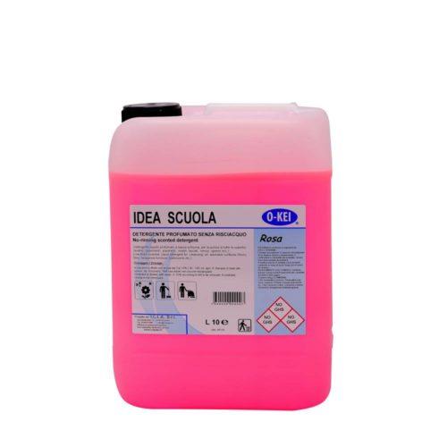 I.C.L.A. OKEI - IDEA SCUOLA ROSA - Detergenti manutentori  10kg - Detergente liquido a bassa schiuma delicatamente profumato per la manutenzione ordinaria di tutte le superfici dure. Non intacca i pavimenti trattati con cere. Lascia nell'ambiente una gradevole nota fiorita.