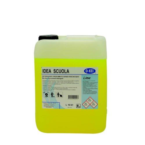 I.C.L.A. OKEI - IDEA SCUOLA LIME - Detergenti manutentori  10kg - Detergente liquido a bassa schiuma delicatamente profumato per la manutenzione ordinaria di tutte le superfici dure. Non intacca i pavimenti trattati con cere. Lascia nell'ambiente una gradevole nota agrumata.
