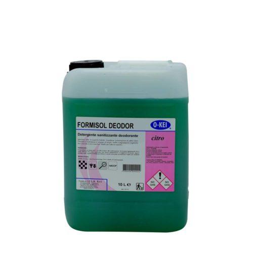 I.C.L.A. OKEI - FORMISOL DEODOR CITRO - Detergenti igienizzanti  10kg - Detergente sanificante profumato attivo nei confronti di microrganismi di vario tipo: batteri Gram+ e Gram-