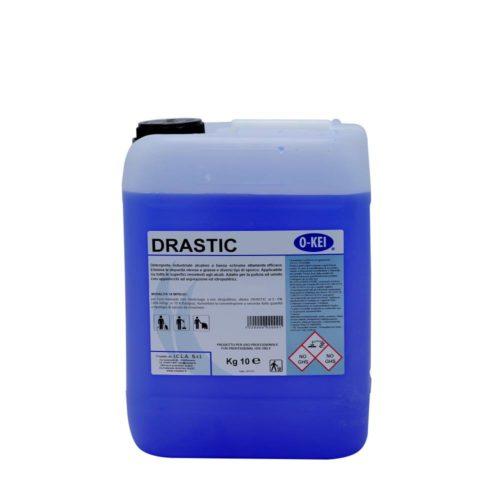 I.C.L.A. OKEI - DRASTIC - Pulizia di fondo  10kg - Detergente industriale alcalino a bassa schiuma altamente efficace. Elimina le impurità oleose e diversi tipi di sporco.