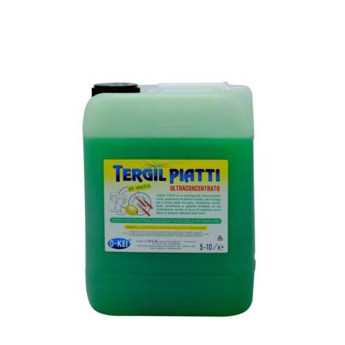I.C.L.A. OKEI - TERGIL PIATTI - Detergenti per stoviglie  10kg - Detergente neutro ultraconcentrato per il lavaggio manuale delle stoviglie. Grazie alla sua formulazione ricca di sostanze attive ed emolienti