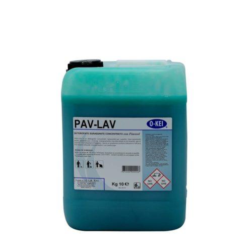 I.C.L.A. OKEI - PAV LAV VERDE - Pulizia di fondo  10kg - Detergente concentrato sgrassante per superfici dure con Pinecoiol. Elimina  energicamente macchie tenaci di oli minerali