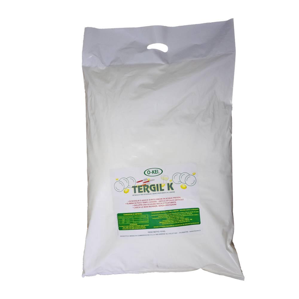 I.C.L.A. OKEI - TERGIL K STOVIGLIE - Detergenti per stoviglie  10kg - Detersivo in polvere concentrato per il lavaggio manuale delle stoviglie. Elimina rapidamente ogni tipo di sporco
