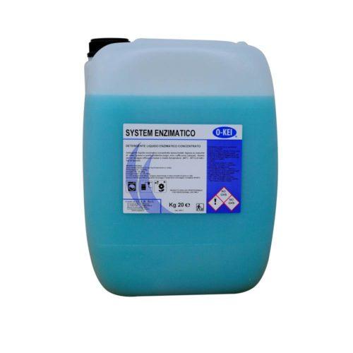 I.C.L.A. OKEI - SYSTEM ENZIMATICO - Detergenti per bucato  20kg - Detergente liquido enzimatico concentrato senza fosfati. Agisce su macchie di unto/grasso e quelle proteiche (sugo