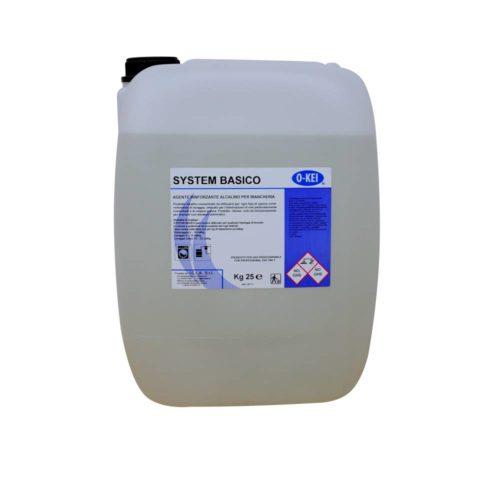 I.C.L.A. OKEI - SYSTEM BASICO - Detergenti per bucato  25kg - Prodotto alcalino concentrato da utilizzarsi per ogni tipo di sporco come rinforzante di lavaggio. Indicato per l'eliminazione di unti particolarmente consistenti e di origine grassa.